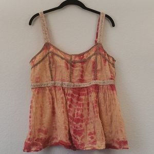 American Rag Tie Dye Embroidered Tank Top